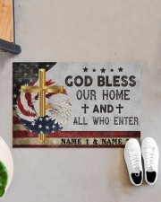 """Custom Names God Bless Our Home And All Doormat 22.5"""" x 15""""  aos-doormat-22-5x15-lifestyle-front-07"""