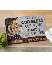 """Custom Names God Bless Our Home And All Doormat 22.5"""" x 15""""  aos-doormat-22-5x15-lifestyle-front-11"""