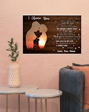 Custom Name I Choose You The Love Of My Life 24x16 Poster poster-landscape-24x16-lifestyle-22
