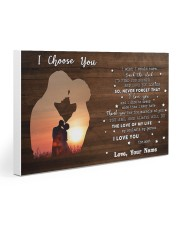 Custom Name I Choose You The Love Of My Life 30x20 Gallery Wrapped Canvas Prints thumbnail