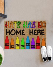 "LGBT Hate Has No Home Here Doormat 22.5"" x 15""  aos-doormat-22-5x15-lifestyle-front-07"
