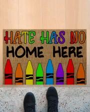 "LGBT Hate Has No Home Here Doormat 22.5"" x 15""  aos-doormat-22-5x15-lifestyle-front-10"