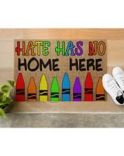 "LGBT Hate Has No Home Here Doormat 22.5"" x 15""  aos-doormat-22-5x15-lifestyle-front-12"