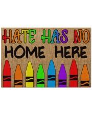 """LGBT Hate Has No Home Here Doormat 22.5"""" x 15""""  front"""