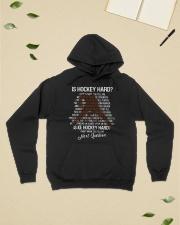 Is-hockey-hard Hooded Sweatshirt lifestyle-unisex-hoodie-front-6