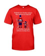 Hockey-Behind-Hockey-Player-Believes-In-Himself Classic T-Shirt tile