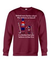 Hockey-Behind-Hockey-Player-Believes-In-Himself Crewneck Sweatshirt tile