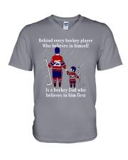 Hockey-Behind-Hockey-Player-Believes-In-Himself V-Neck T-Shirt tile