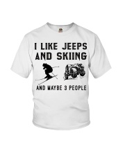 I-like-jeeps-and-skiing-and-maybe-3-people Youth T-Shirt tile