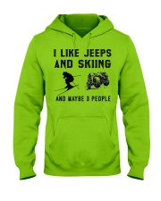 I-like-jeeps-and-skiing-and-maybe-3-people Hooded Sweatshirt front