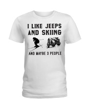 I-like-jeeps-and-skiing-and-maybe-3-people Ladies T-Shirt tile
