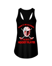 Hockey-Dont-Be-Scared-Im-Just-Hockey-Player Ladies Flowy Tank tile