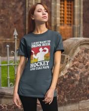 Hockey-Drink-Beer Classic T-Shirt apparel-classic-tshirt-lifestyle-06