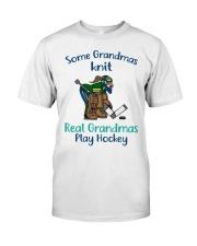 Some-Grandmas-knit-Real-Grandmas-Play-Hockey Premium Fit Mens Tee tile
