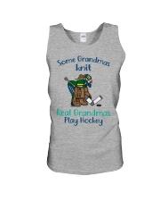 Some-Grandmas-knit-Real-Grandmas-Play-Hockey Unisex Tank tile