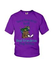 Some-Grandmas-knit-Real-Grandmas-Play-Hockey Youth T-Shirt tile