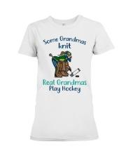 Some-Grandmas-knit-Real-Grandmas-Play-Hockey Premium Fit Ladies Tee tile