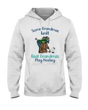 Some-Grandmas-knit-Real-Grandmas-Play-Hockey Hooded Sweatshirt front