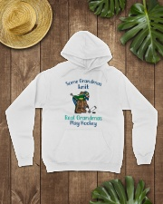 Some-Grandmas-knit-Real-Grandmas-Play-Hockey Hooded Sweatshirt lifestyle-unisex-hoodie-front-7