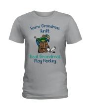 Some-Grandmas-knit-Real-Grandmas-Play-Hockey Ladies T-Shirt tile