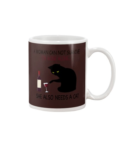 woman-cat-wine