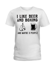 i-like-beer-and-boxing-and-maybe-3-people Ladies T-Shirt tile