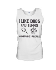 I-like-dogs-and-tennis-and-maybe-3-people Unisex Tank tile