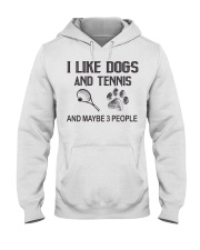 I-like-dogs-and-tennis-and-maybe-3-people Hooded Sweatshirt tile