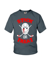 Hockey-Stick-Or-Treat2 Youth T-Shirt tile