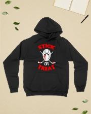 Hockey-Stick-Or-Treat2 Hooded Sweatshirt lifestyle-unisex-hoodie-front-6
