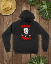 Hockey-Stick-Or-Treat2 Hooded Sweatshirt lifestyle-unisex-hoodie-front-7