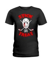 Hockey-Stick-Or-Treat2 Ladies T-Shirt tile