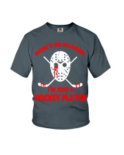 Hockey-Dont-Be-Scare-Im-Just-Hockey-Player Youth T-Shirt tile