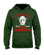 Hockey-Dont-Be-Scare-Im-Just-Hockey-Player Hooded Sweatshirt tile
