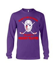 Hockey-Dont-Be-Scare-Im-Just-Hockey-Player Long Sleeve Tee tile