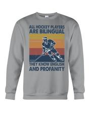 All-hockey-player-are-bilingual Crewneck Sweatshirt tile
