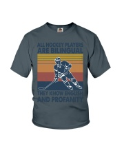 All-hockey-player-are-bilingual Youth T-Shirt tile