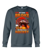 Hockey-My-Knife-Broke-Play-Hockey Crewneck Sweatshirt tile