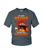 Hockey-My-Knife-Broke-Play-Hockey Youth T-Shirt tile