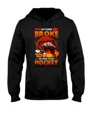 Hockey-My-Knife-Broke-Play-Hockey Hooded Sweatshirt front