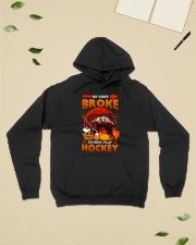 Hockey-My-Knife-Broke-Play-Hockey Hooded Sweatshirt lifestyle-unisex-hoodie-front-6