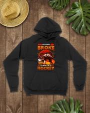 Hockey-My-Knife-Broke-Play-Hockey Hooded Sweatshirt lifestyle-unisex-hoodie-front-7