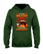 Hockey-My-Knife-Broke-Play-Hockey Hooded Sweatshirt tile