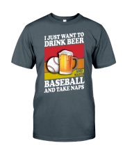 Baseball-Drink-Beer Classic T-Shirt front