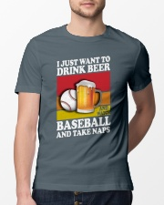 Baseball-Drink-Beer Classic T-Shirt lifestyle-mens-crewneck-front-13