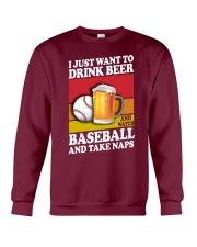 Baseball-Drink-Beer Crewneck Sweatshirt tile