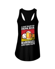 Baseball-Drink-Beer Ladies Flowy Tank tile