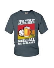 Baseball-Drink-Beer Youth T-Shirt tile