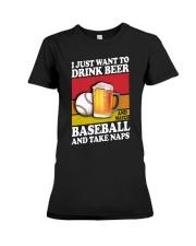 Baseball-Drink-Beer Premium Fit Ladies Tee tile