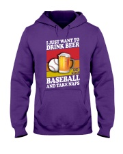 Baseball-Drink-Beer Hooded Sweatshirt tile